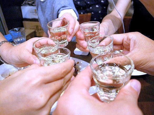 グラッパで乾杯.JPG
