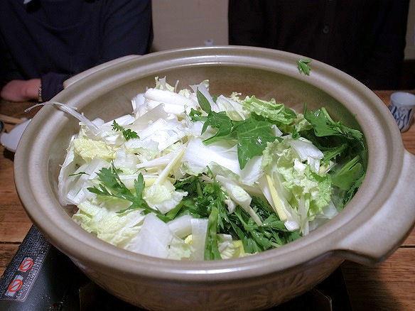 鴨鍋の野菜.JPG