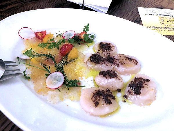 鮮魚のカルパッチョ2種盛り合わせ.JPG