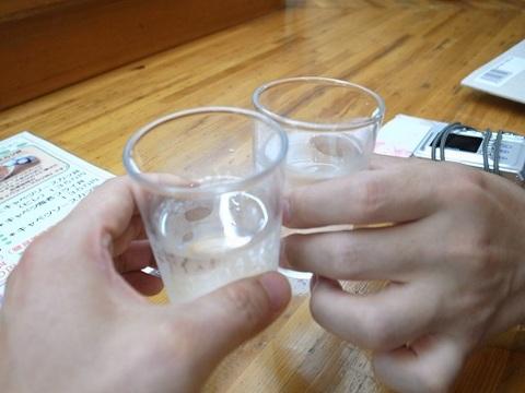 お水で乾杯.JPG