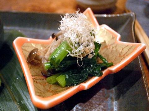 小松菜とシメジのおひたし.JPG