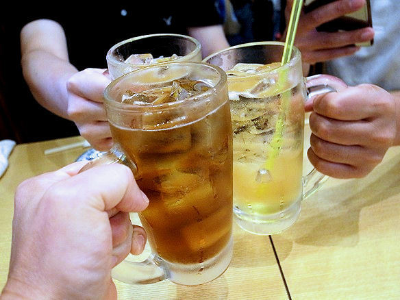 須賀乃湯で乾杯.JPG