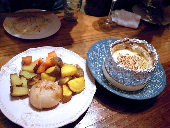 焼いたモン・ドールと野菜.JPG