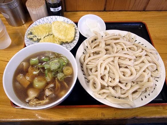 肉汁うどん(中) 冷もり+野菜天.JPG
