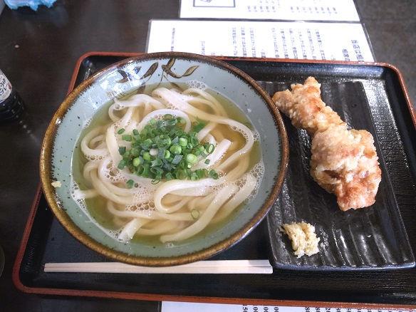 かけうどん+鶏天.JPG
