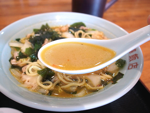 ワカメそばのスープ.JPG