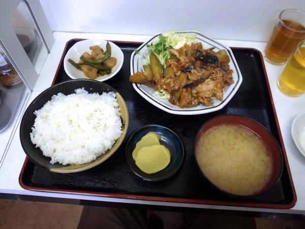 なす肉味噌炒め定食.JPG
