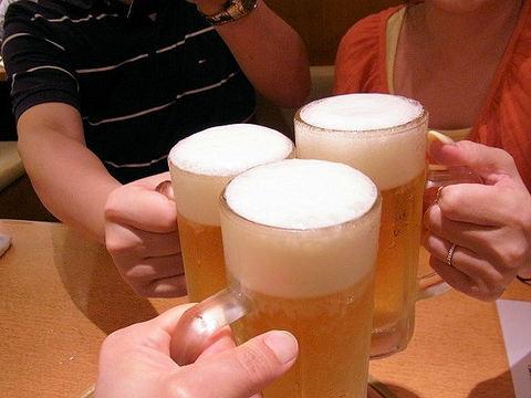 生ビールでお疲れちゃん.JPG